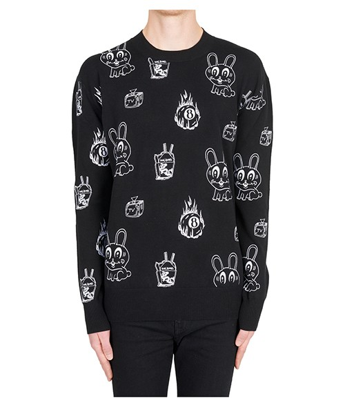 Men's crew neck neckline jumper sweater pullover bunny sticker