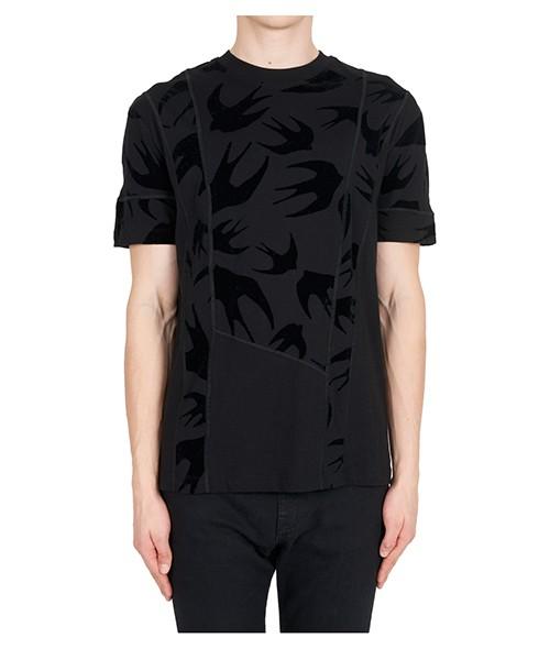T-shirt MCQ Alexander McQueen Swallow 519431RLJ701000 nero