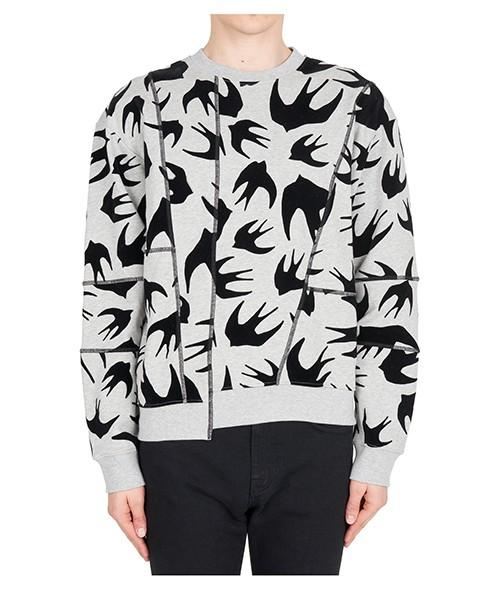 Sweatshirt MCQ Alexander McQueen Swallow Swarm 519433RLJ671225 mercury melange