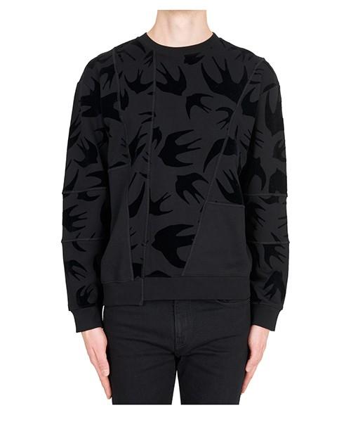 Sweatshirt MCQ Alexander McQueen Swallow Swarm 519433RLJ691000 darkest black