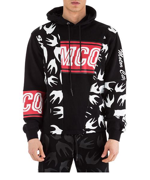 Kapuzensweatshirt MCQ Alexander McQueen Varsity 541816RMT671000 nero