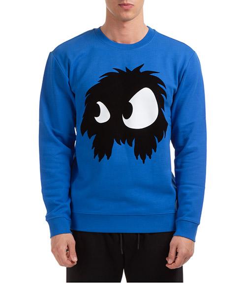 Sweatshirt MCQ Alexander McQueen mad-chester 545415RKH514445 blu