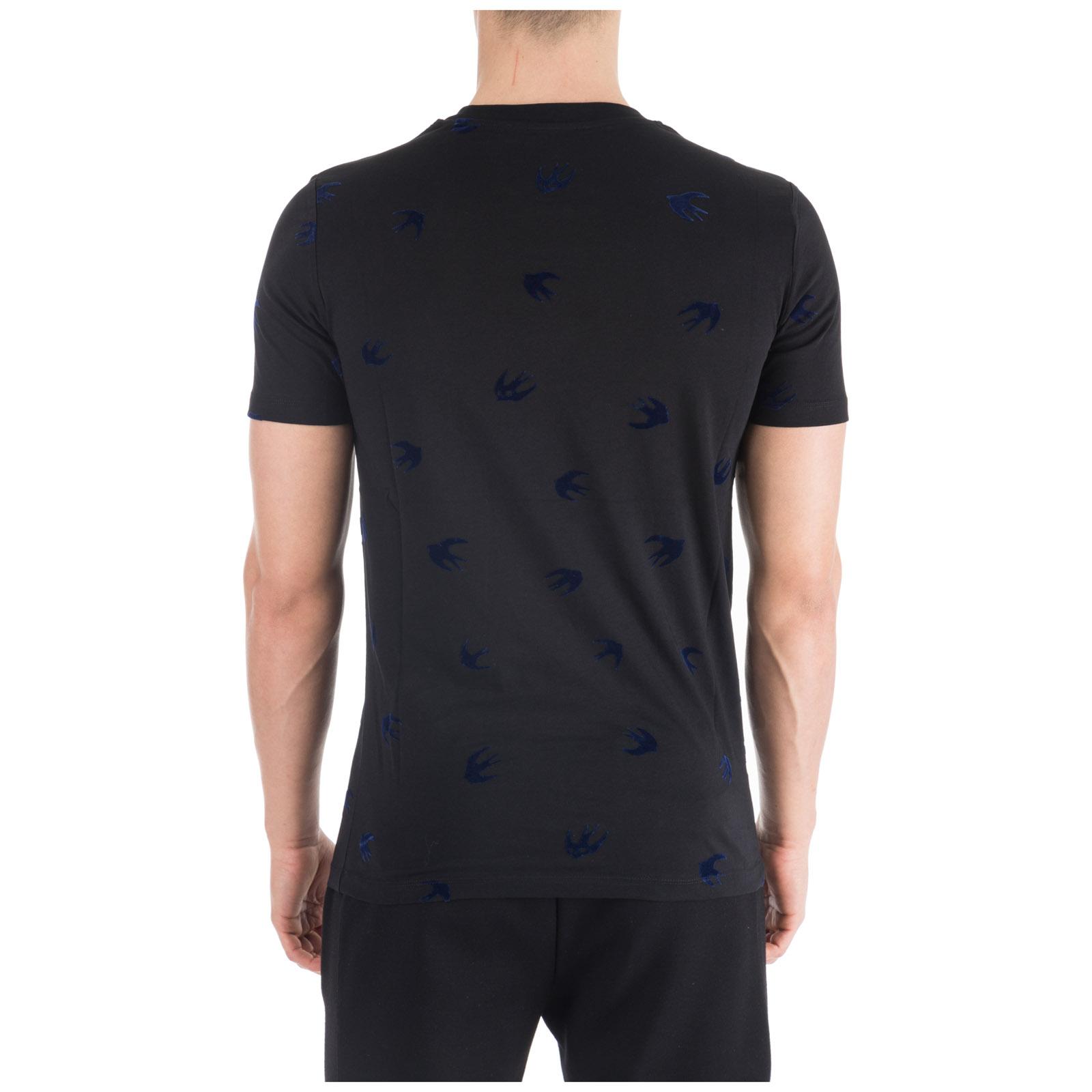 Herren t-shirt kurzarm kurzarmshirt runder kragen swallow