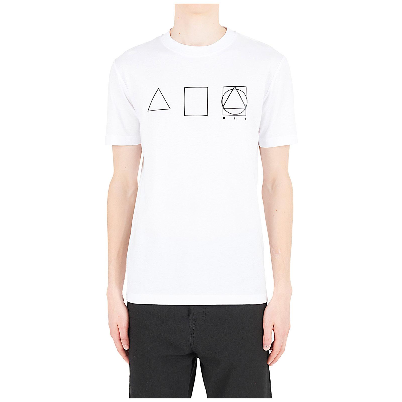 Camiseta de manga corta cuello redondo hombre glyph icon