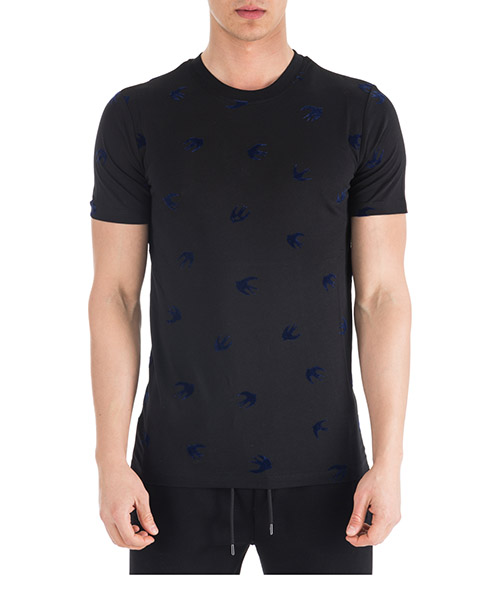 T-shirt McQ Swallow Mini Swallow 277605 RIT67 1051 black / carbonnavyfloc