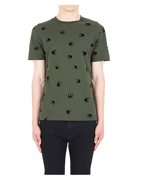 Camiseta McQ Swallow Mini Swallow 277605RIT672311 verde