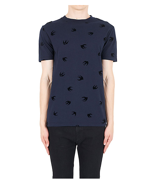 T-shirt McQ Swallow Mini Swallow 277605RIT674004 blu