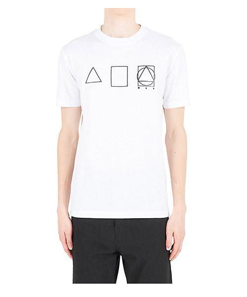 T-shirt McQ Swallow Glyph Icon 277605RKR589000 bianco