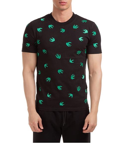 T-shirt McQ Swallow Swallow 277605ROR601040 nero