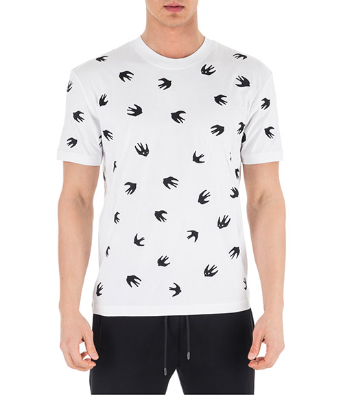 T-shirt McQ Swallow Swallow 291571RMT649000 bianco