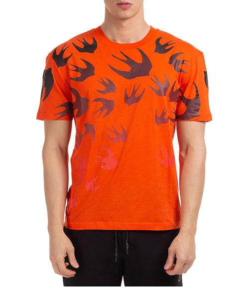 T-shirt McQ Swallow fading 291571ROT437560 arancione