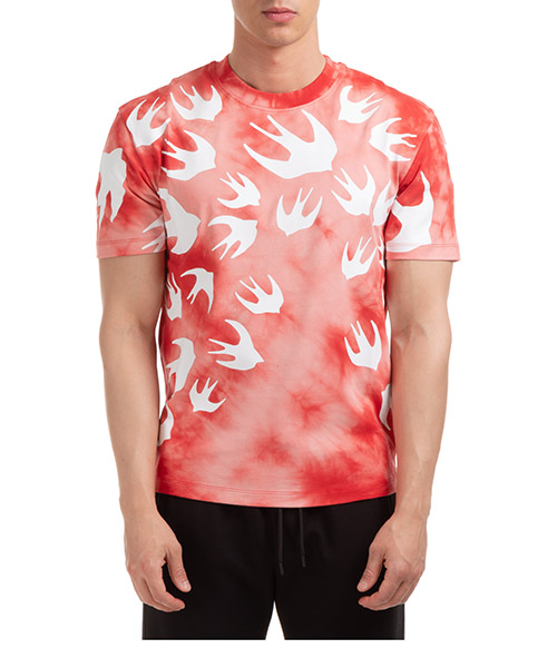 T-shirt McQ Swallow Swallow 291571RPR116406 rosso