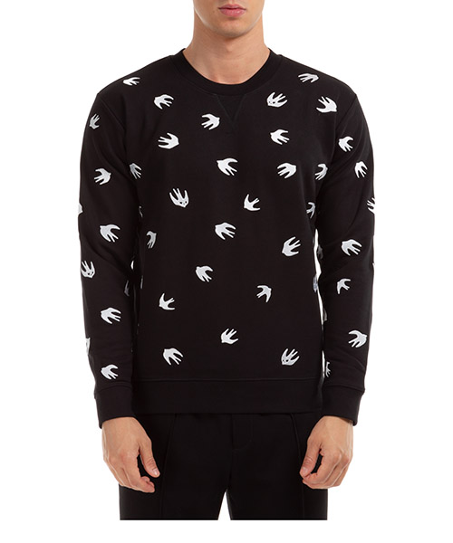 Sweatshirt McQ Swallow Coverlock swallow 387535ROR611000 nero