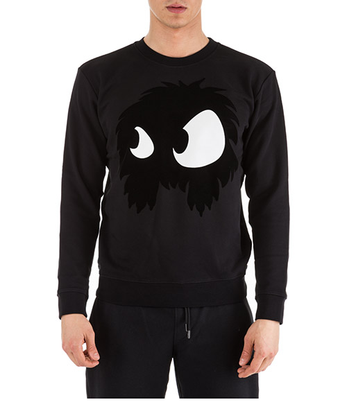 Sweatshirt McQ Swallow Mad-Chester 415099RKH511000 nero