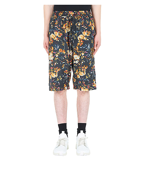 Shorts McQ Swallow Floral Print 470722RKQ151000 darkest black