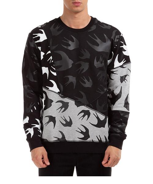 Sweatshirt McQ Swallow Swallow 477017RPT491073 nero