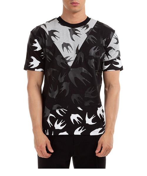 T-shirt McQ Swallow Swallow 477018RPT501073 nero