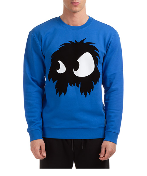 Sweatshirt McQ Swallow Mad-Chester 545415RKH514445 blu