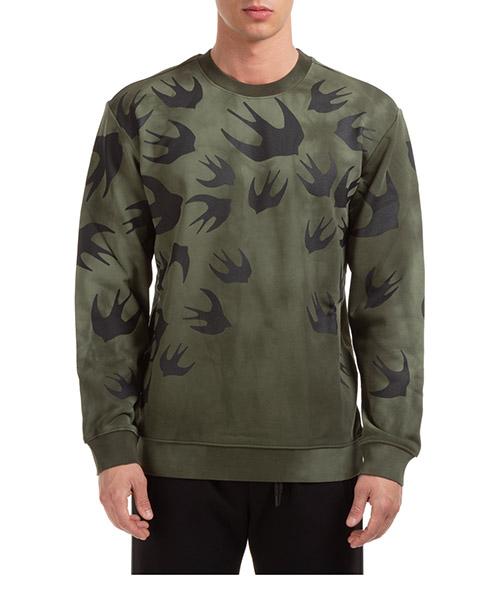 Sweatshirt McQ Swallow Swallow 545415RPR103049 verde