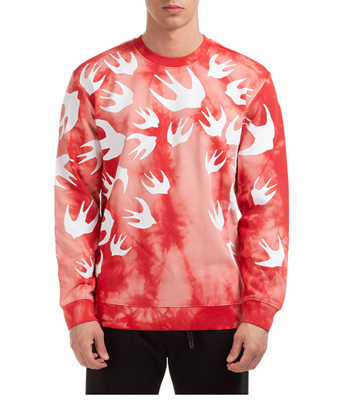Sweatshirt McQ Swallow Swallow 545415RPR106406 rosso