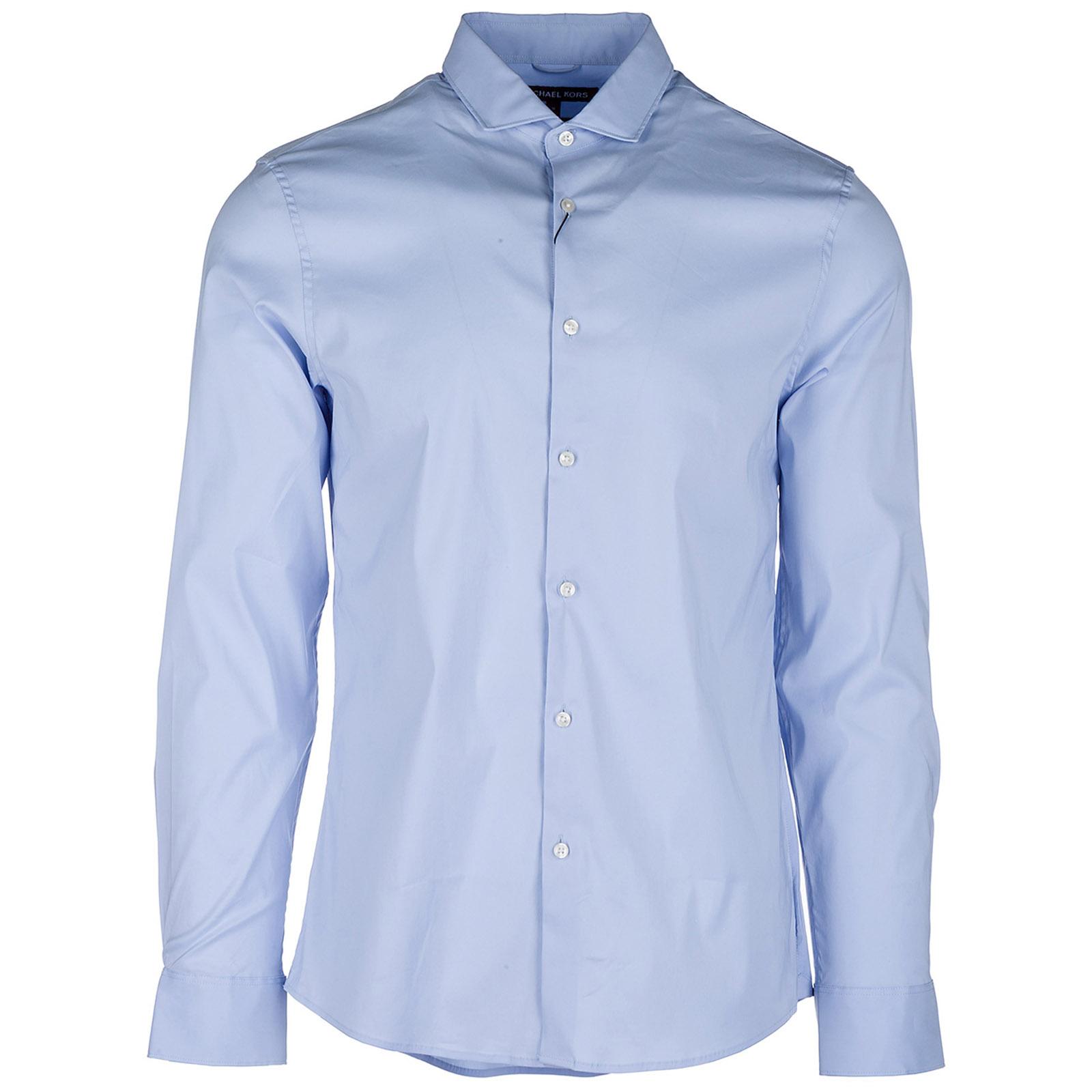 3460e1016a Camicia Michael Kors CB94C6GAG5 steel blue   FRMODA.com
