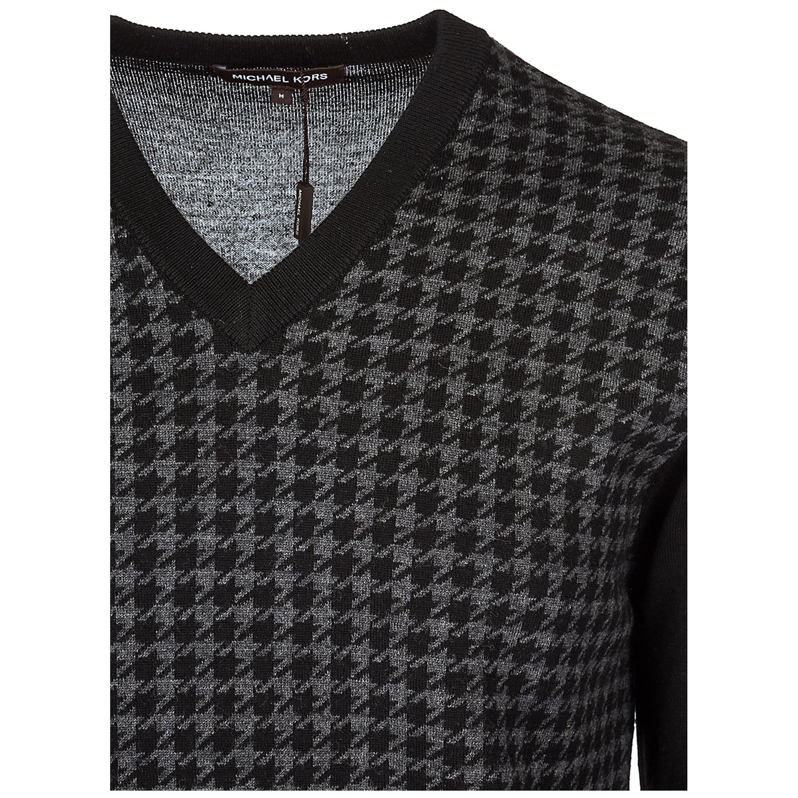 Mens V Neck Jumper Sweater Pullover