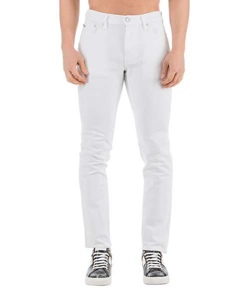 Jeans Michael Kors slim fit cs99a5g0uk100 bianco