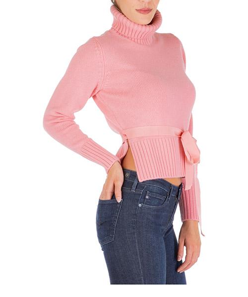 Maglione collo alto Moncler 9252100a9024517 rosa