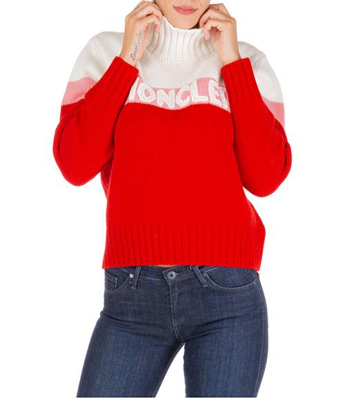 Maglione collo alto Moncler 9252550a9141455 rosso