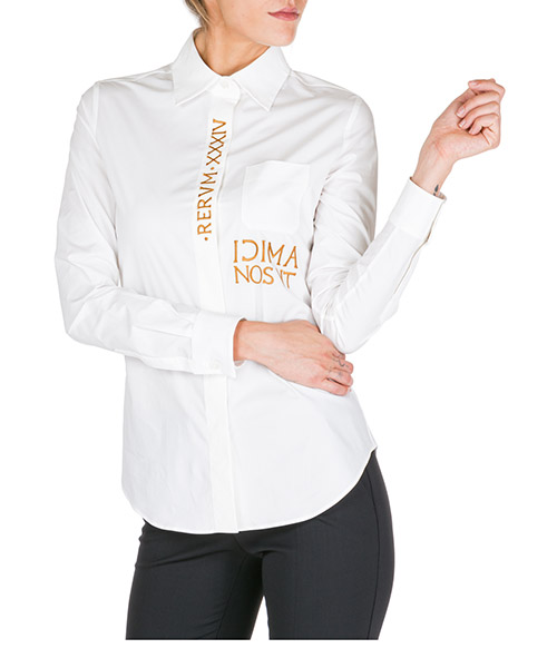 Chemise Moschino A020955313002 bianco