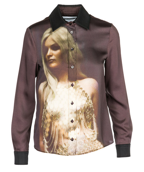 Camisa Moschino A021955511888 bordeaux