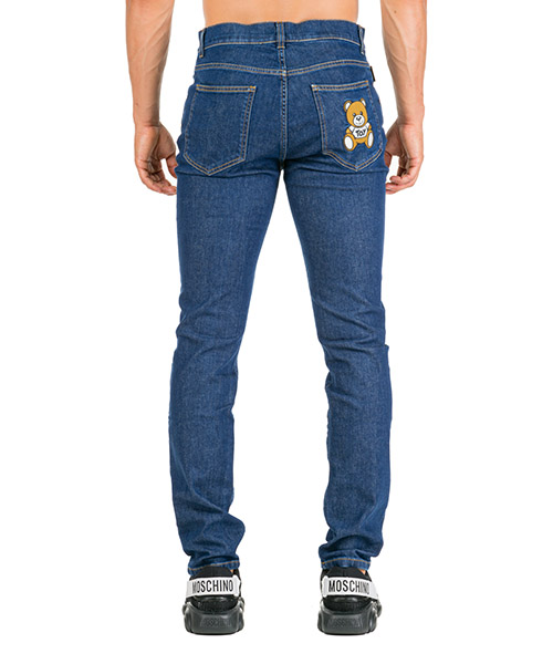 Men's jeans denim teddy bear slim fit