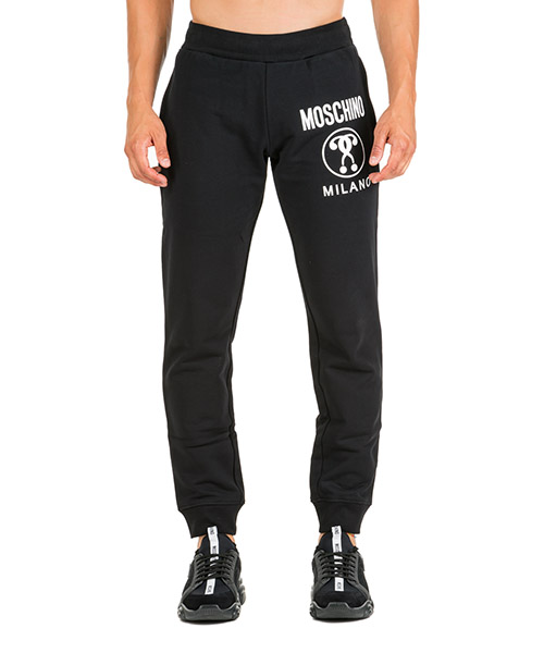 Pantalones deportivos Moschino Double Question Mark A032152271555 nero