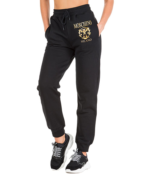 Спортивные брюки Moschino roman double question mark a032155277555 nero
