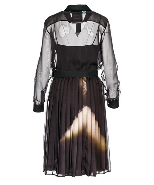 Vestido de mujer largo hasta la rodilla con mangas largas secondary image