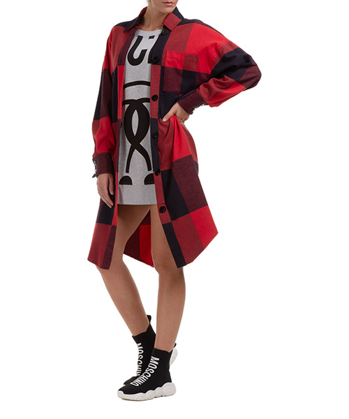 Vestidos cortos Moschino 202E A042155303115 rosso