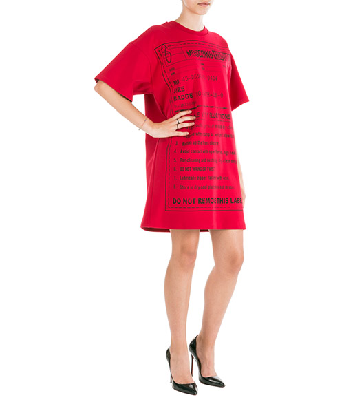 Mini dress Moschino A044555264116 rosso