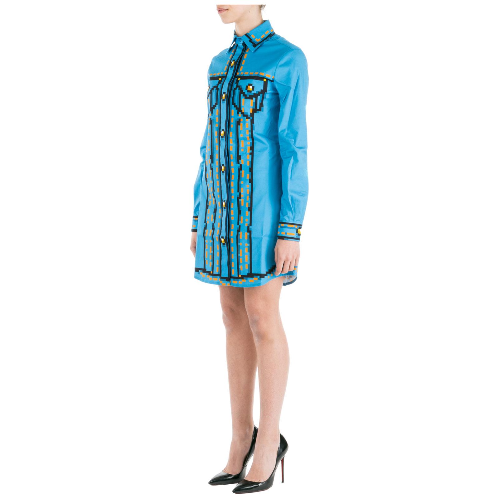 sale retailer 0a78e 296f9 Vestito abito donna corto miniabito manica lunga pixel capsule