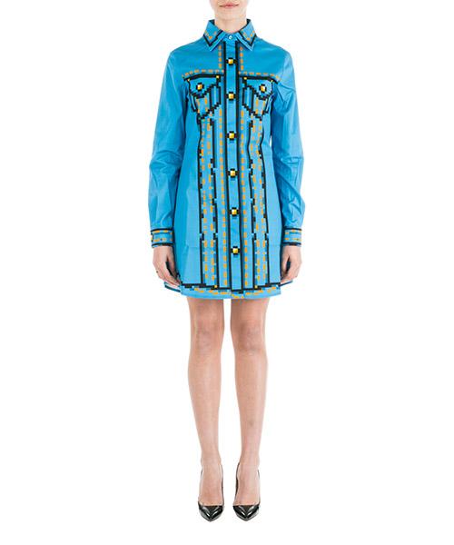 Vestido corto Moschino Pixel A047591501302 azzurro