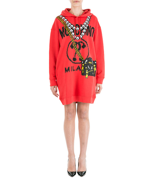Robe courte  Moschino Pixel A047991271112 rosso
