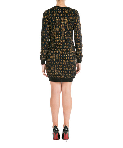 Women's short mini dress long sleeve secondary image