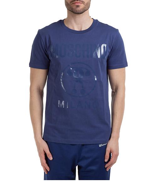 T-shirt Moschino logo signature a070620400342 blu
