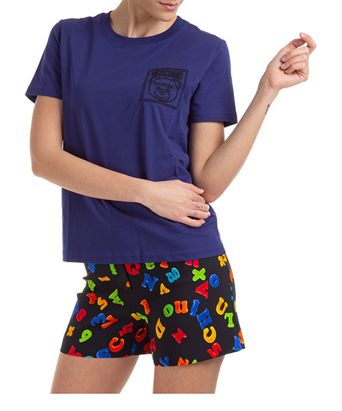 T-shirt Moschino A070955403287 viola