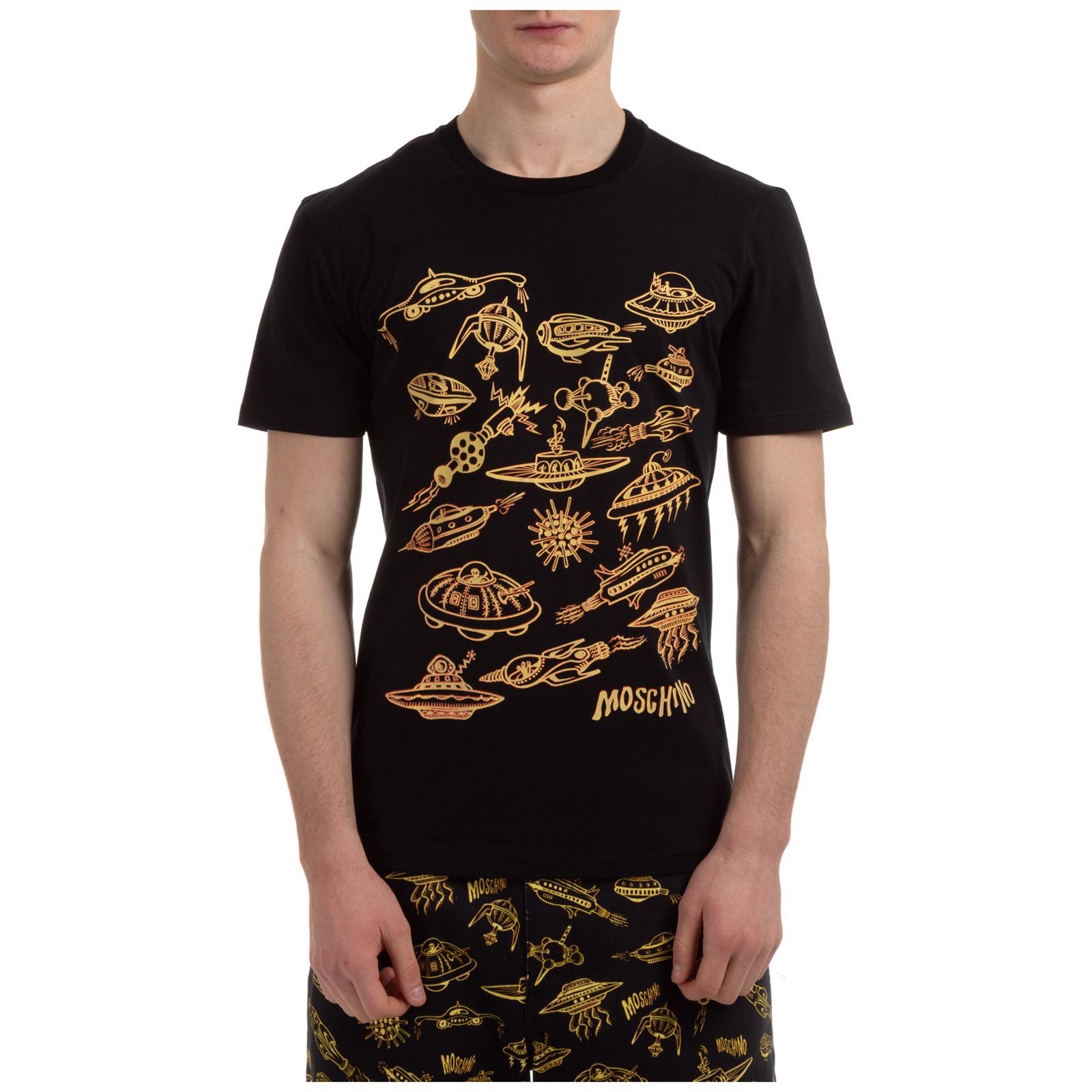 T-shirt maglia maniche corte girocollo uomo spaceship