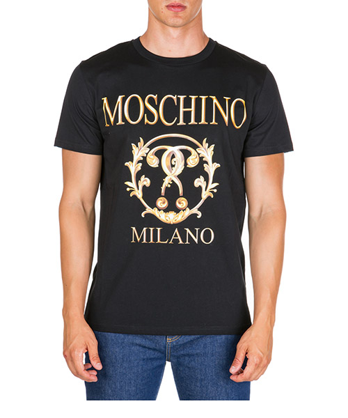 T-shirt Moschino Roman Double Question Mark A072052401555 nero