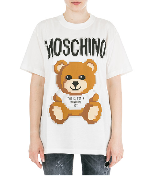 Women's t-shirt short sleeve crew neck round teddy bear pixel capsule