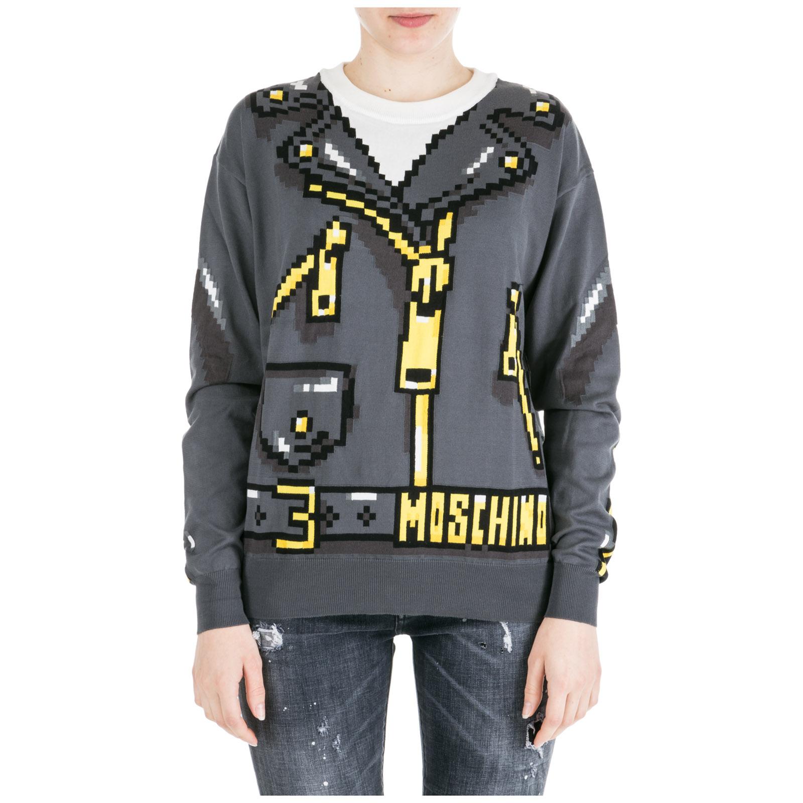 nuovo concetto a4a57 67d7c Maglione maglia donna girocollo pixel capsule