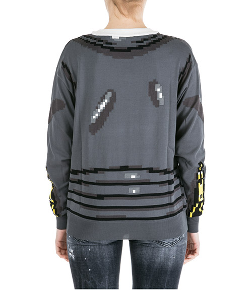 Women's jumper sweater crew neck round pixel capsule secondary image