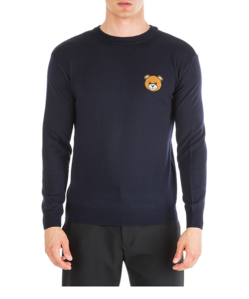 Sweater Moschino Teddy Bear A090252000510 blu