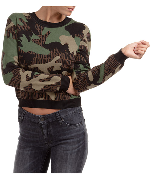 Pullover Moschino A090355021888 verde